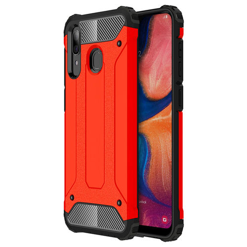 Military Defender Tough Shockproof Case for Samsung Galaxy A20 / A30 - Red